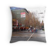 A rainy day in Melbourne VIC Australia  Throw Pillow