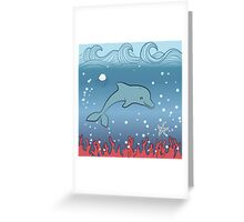 Dolphin swimming underwater Greeting Card