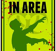 Zombie Warning Sign by emberstudio