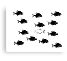 Black Fish Canvas Print