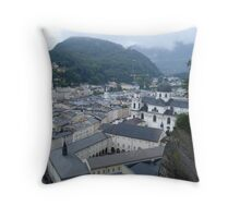 Mozart's Hometown Throw Pillow
