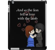 The Lion And The Lamb iPad Case/Skin