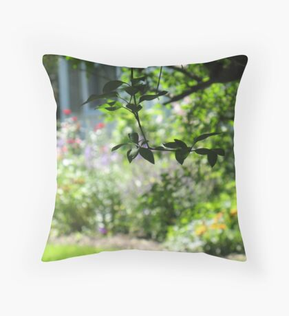 The Leaves of Summer Throw Pillow