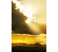 Gods Sunset II Photographic Print