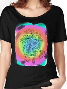colourful jelly fish  Women's Relaxed Fit T-Shirt