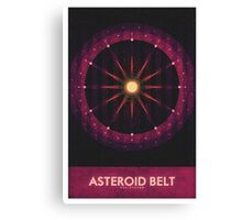 Sol System - The Asteroid Belt Canvas Print