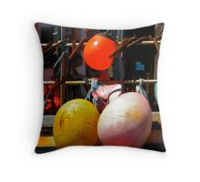 Fishing Floats Throw Pillow