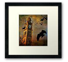 the clocktower Framed Print