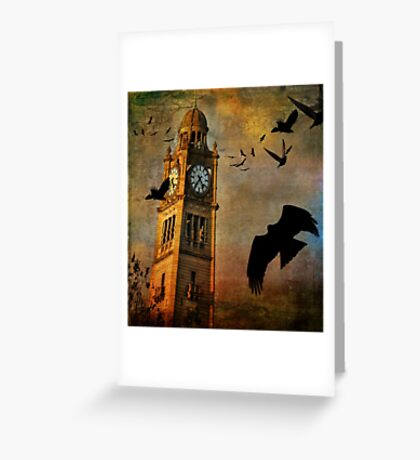 the clocktower Greeting Card