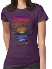 Toothless Sunset Womens Fitted T-Shirt