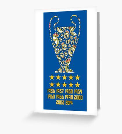 Real Madrid - Champions League Winners Greeting Card