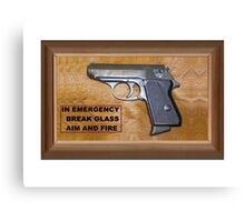 Emergency Pistol Canvas Print