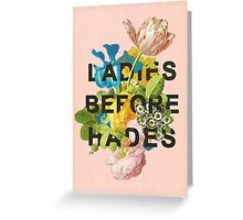 Ladies Before Hades Greeting Card