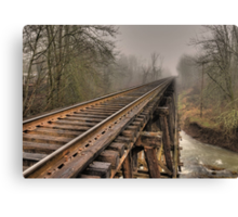 Track to some where Canvas Print