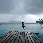 Jetty Jump, Solomon Islands. by Stewart Allen