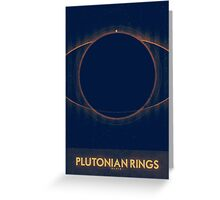 Pluto - Plutonian Rings Greeting Card