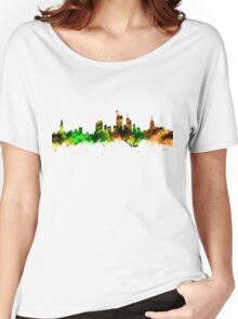 Watercolor Skyline of Frankfurt Germany Women's Relaxed Fit T-Shirt