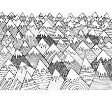 Pattern Hills Photographic Print