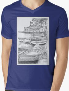 Sorrento Grotto Mens V-Neck T-Shirt
