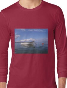Floating In Blue & White Long Sleeve T-Shirt