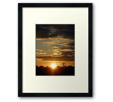Time Machine Sunset Framed Print