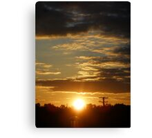 Time Machine Sunset Canvas Print
