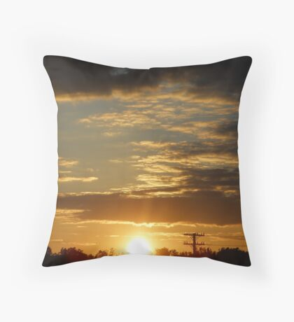 Time Machine Sunset Throw Pillow
