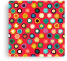 red pop spot Canvas Print
