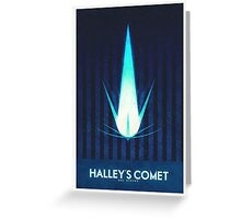 Sol System - Halley's Comet Greeting Card