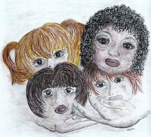 Children of the World in God's Hands by EloiseArt