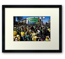 World Cup Soccer Fever Grips Sandton Framed Print