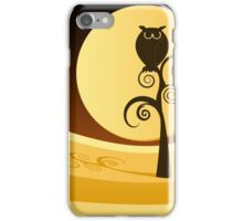 Owl and Moon Illustration iPhone Case/Skin