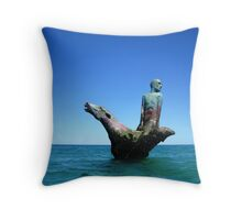 Horse & Rider, Robb's Jetty, South Fremantle Throw Pillow