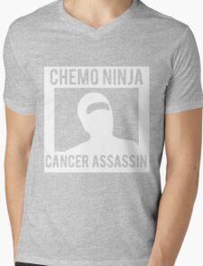 Chemo Ninja Cancer Assassin Mens V-Neck T-Shirt