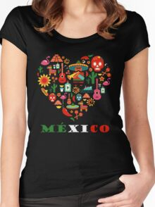 LOVE MEXICO Women's Fitted Scoop T-Shirt