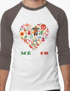 LOVE MEXICO Men's Baseball ¾ T-Shirt