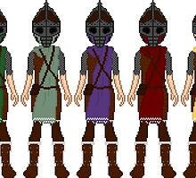 Skyrim 8-bit Hold Guards by sansasnark
