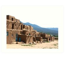 Taos Indian Pueblo Village in Taos, New Mexico Art Print
