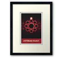 The Asteroid Belt - Asteroid Family Framed Print