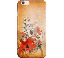 Poppies Grunge Floral Design iPhone Case/Skin