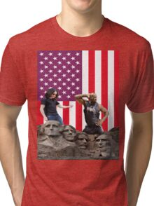 shaq and ozzie in america Tri-blend T-Shirt