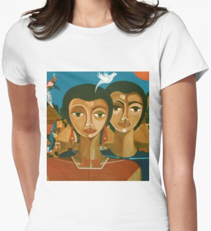 """Study for """"love is like a bird"""" Womens Fitted T-Shirt"""