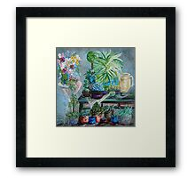 Table of a Plant Lover Framed Print