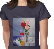 Still life with roses Womens Fitted T-Shirt