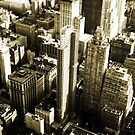 New York City From The Sky by pixelvision