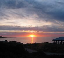 Sunset overlooking Port Willunga Beach by PaulaBoreham