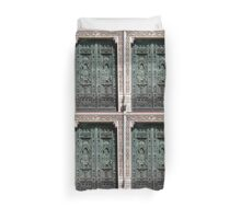 Entrance to the Duomo of Florence Italy Duvet Cover