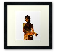 The Bad A$$, flaming Ada Wong Framed Print