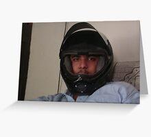 funny helmet lol Greeting Card