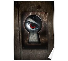 There's a Monster in My Closet! (red eye) Poster